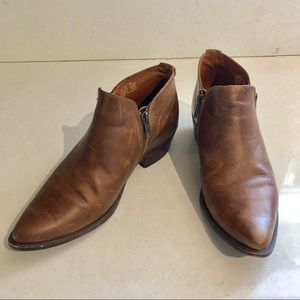 """Steve Madden """"Ajay"""" Brown Leather Booties"""